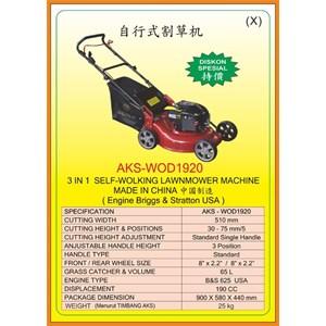 Alat Alat Mesin Walk Behing Lawnmower & Electric Sweeper WOD1920