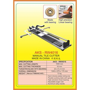 Mesin Pemotong Manual Tile Cutter RW4016