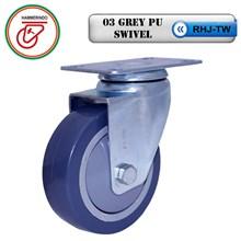 RHJ-TW 03 Grey PU Swivel Polyurethane Caster Wheels