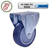 Roda Kaster  Polyurethane RHJ-TW 03 Grey PU Rigid 1