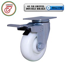 Roda Kaster Nilon RHJ-TW 03 NB Swivel Double Brake