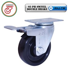 Roda Phenolic 03 PH Swivel Double Brake