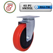RHJ-TW 03 PU Swivel Caster Wheels