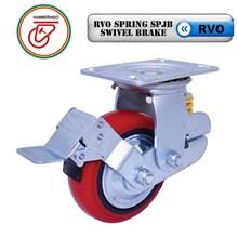 Roda Troli RVO Spring SPJB Swivel Brake