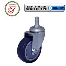 Roda Troli RHJ-TW Screw Swivel Grey PU