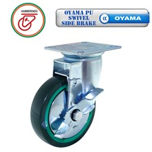 Roda Troli OYAMA PU Swivel Side Brake