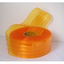 Pvc Strip Curtain Ribbed Orange
