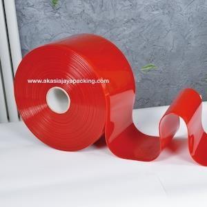 Dari Tirai PVC / Plastik Merah 0