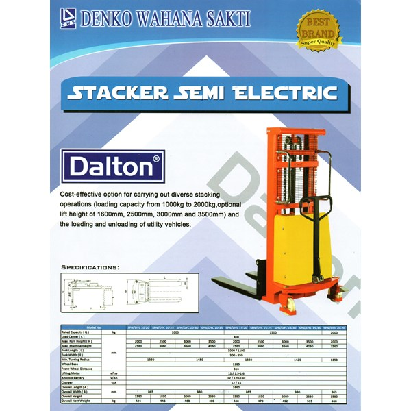 Promo Super Hand Stacker DYC semi Electric DYC 1535