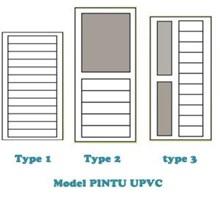 Daftar Pintu UPVC berbagai type pabrikasi di surabaya