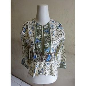 Batik Motif Cirebonan - W53622 Bolero - Hijau