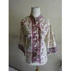 Batik Motif Cirebonan - W53622 Blouse - Hijau 1