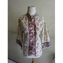 Batik Motif Cirebonan - W53622 Blouse - Hijau
