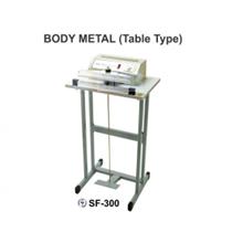 Mesin Segel Pedal Impulse Sealer Body Metal Table Type