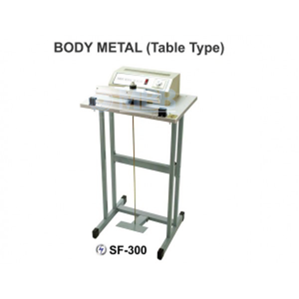 Mesin Segel Pedal Impulse Sealer Body Metal Table Type