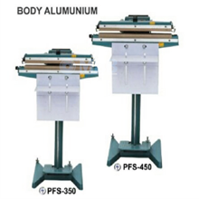 Mesin Segel Pedal Impulse Sealer Body Aluminium Table Type