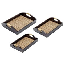 Mendekor - Ngali Lidi (Restaurant Hotel Wooden Tray Kerajinan Kayu Anyaman)