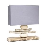 Jual Mendekor - Batu Mandi ( Lampu Meja Rustic Hotel Cafe Rumah Side Table Lamp Elite )