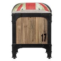 Mendekor - Hibala ( Furniture Bangku Kayu Jati Besi Unik Industrial Modern Kafe ) 1