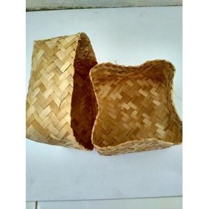 Besek Bakul Kerajinan Bambu dan Kayu Besar & Kecil