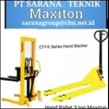 SEMI ELECTRIC STACKER HAND PALLET MAXITON PT SARANA TEKNIK
