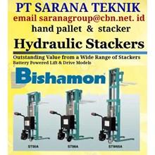 Hand Pallet PT SARANA TEKNIK BISHAMON STACKER HAND PALLET