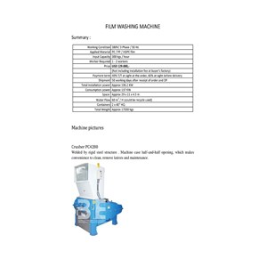 Crusher PC4280 - Film Washing Line