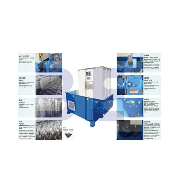 Key Features - Single Shaft Shredder