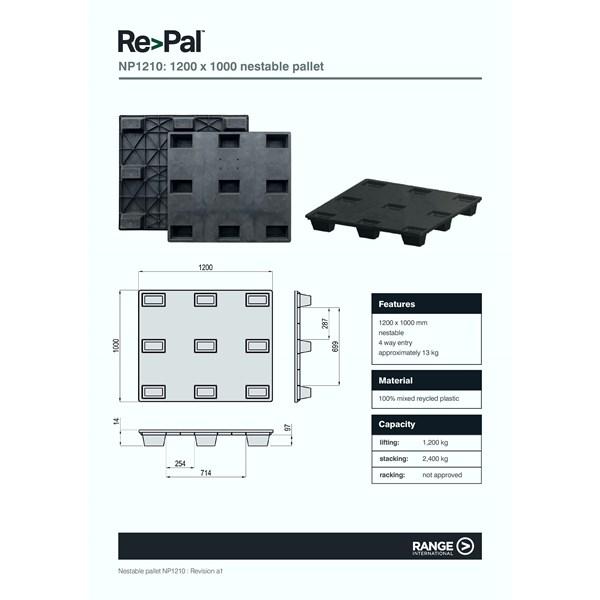 Pallet Plastic Type HD 1210