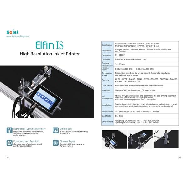 Elfin IS High Resolution Inkjet Printer