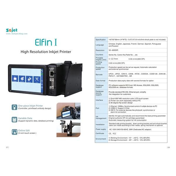 Elfin I High Resolution Inkjet Printer