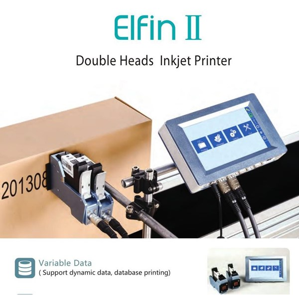 Elfin II Doubke Heads Inkjet Printer