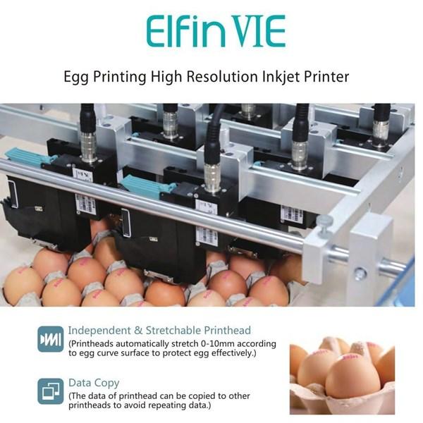Elfin VIE Elfin VIE Egg Printing High Resolution Inkjet Printer