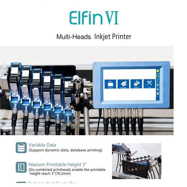 Elfin VI Multi-Heads Inkjet Printer