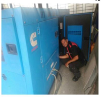 Service Genset Silent Cummin By Ahesy Engineering