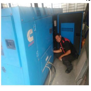 Service Genset Silent Cummin By CV. Ahesy Engineering