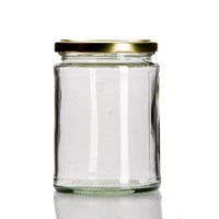 P017 500Ml Round Glass Jar