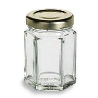 P007 100Ml Hexagon Glass Jar