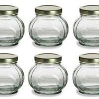 P015 180Ml Octagon Glass Jar