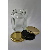 200ml Hexagon Glass jar P014