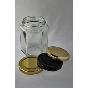 P014 200Ml Hexagon Glass Jar