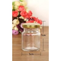 P057 75 Ml Round Glass Jar