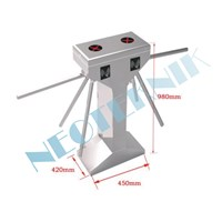 Vertical double channel tripod turnstile NT1011 1