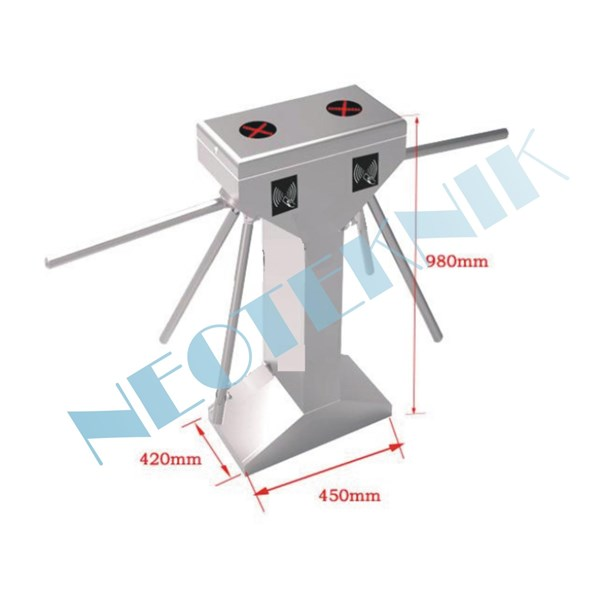 Vertical double channel tripod turnstile NT1011