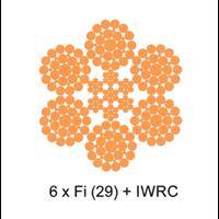 Wire Rope 6 X :  Fi (29 (25)) (24) WS(36) +  FC / IWRC