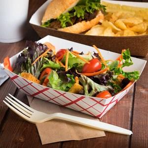 Food Tray Paper Food Grade Atau Piring Kertas Makanan Siap Saji
