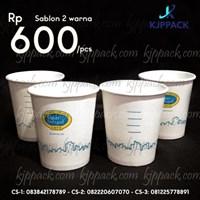 Jual Cetak Sablon Hot Cup Paper Kapasitas 270 Ml
