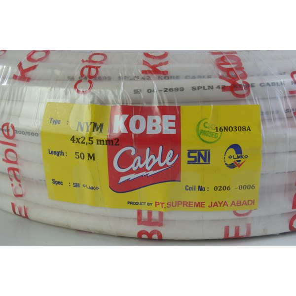Kabel listrik Kobe NYM 2x1.5 2x2.5 2x4 2x6 2x10 3x1.5 3x2.5 3x4 3x6 3x10 4x1.5 4x2.5 4x4 4x6 4x10