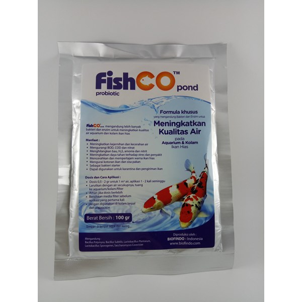 Probiotik untuk Ikan Hias FISHCO POND 100 gram