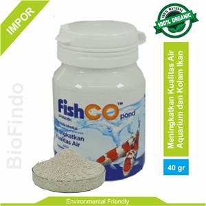 Probiotik untuk Ikan Hias FISHCO POND botol 40 gram